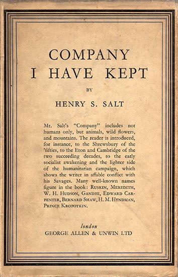 Company I Have Kept - Henry S. Salt